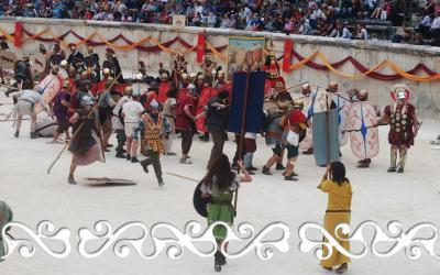 nimes 2015 arene elephant okelum grand jeux romains