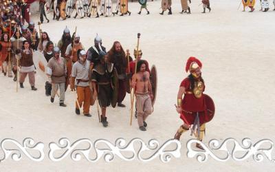 nimes hannibal 2014 celti celts cartaginesi elephant annibale reenactment rievocazione storico