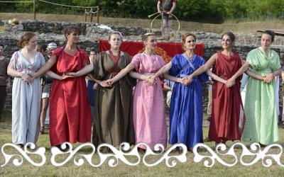 reenactment rievocazione storica villa romana almese ancient rome galloromanitas gallo romanizzazione celti romani celts dance danza women dervonne dervonnae matronae matrone