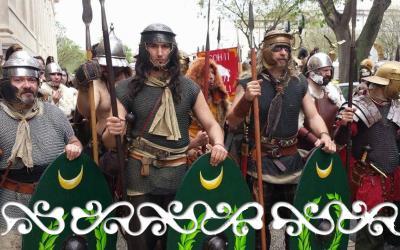 Warriors  auxilia galloromanitas  galloromanizzazione galloromanisation guerrieri okelum celti romani soldati Roman Arène Nimes arena romana cleopatra