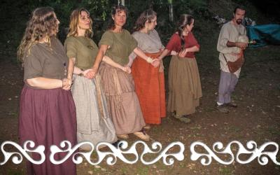 flamulasca la roccarina chiusa pesio archeopark rievocazione reenacment bronze age età bronzo egtved borum eshoi dance danza danzatrici