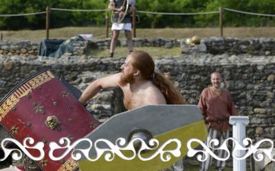 celtic warrior guerriero gradiatori reenactment rievocazione storica villa romana almese ancient rome galloromanitas gallo romanizzazione celti romani celts