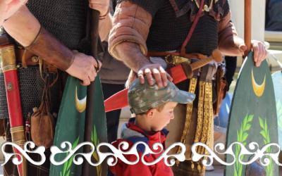GJR Grands Jeux Romains 2017 La Reine Celte Boudicca Boadicea guerriero guerrieri guerriere guerriera donna celta celti auxilia romani arena romana aréne de Nimes