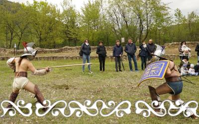 villa romana caselette gladiatori okelum galloromanizzazione galloromani progetto galloromanitas