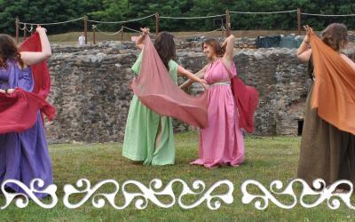 danza antica romana roman ancient dance velo reenactment rievocazione storica danzatrice danzatrici antiche dancer dancers