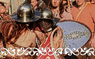okelum balon torino antico carnevale gladiatori guerrieri celti romani